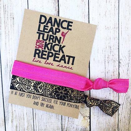 Dance Leap Turn Repeat Hair Tie Set