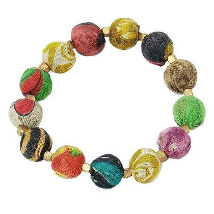 Small Kantha Bauble Bracelet