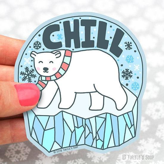 Snow Globe Chill Panda Vinyl Sticker