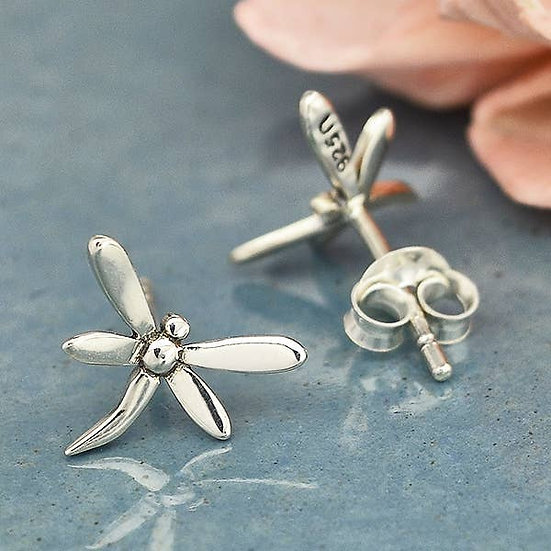 Sterling Silver Dragonfly Post Earrings