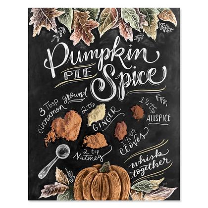 Chalk Art 8x10 Pumpkin Pie Spice