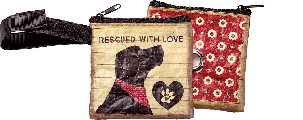 Pet Waste Bag Pouch - Rescued With Love