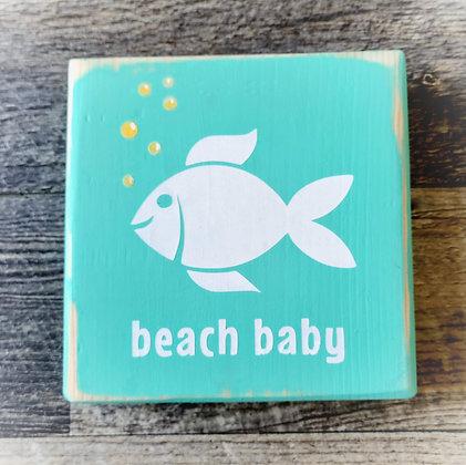 Beach Baby Shelf Sitter - 5x5