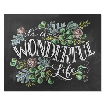 Chalk Art 8x10 It's A Wonderful Life