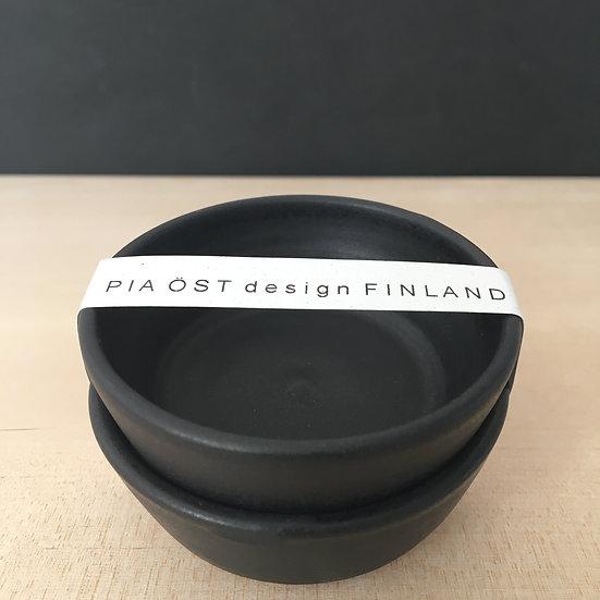 CLAY, Piku-skål, svart, 2-pack