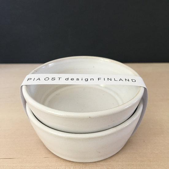 CLAY Piku-skål, vit, 2-pack