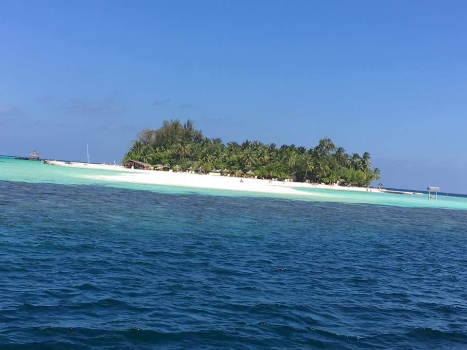 vista dell'isola all'atterraggio