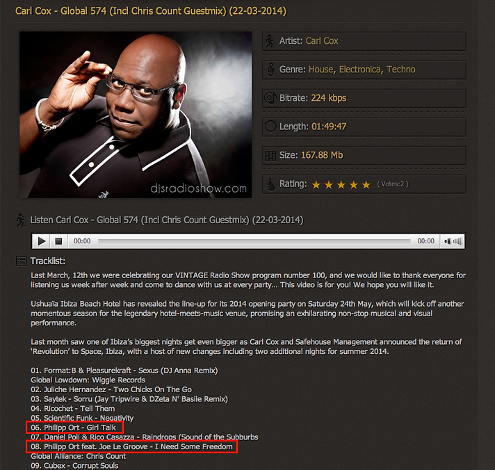 Philipp Ort played by Carl Cox