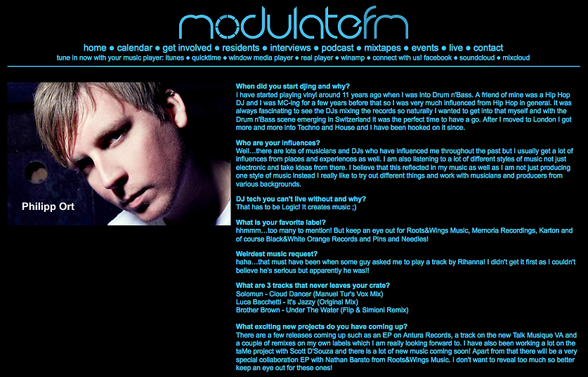 Interview with modulate.fm