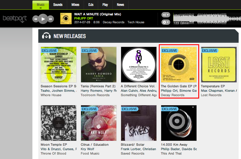 Philipp Ort Wait a Minute in Beatport new releases