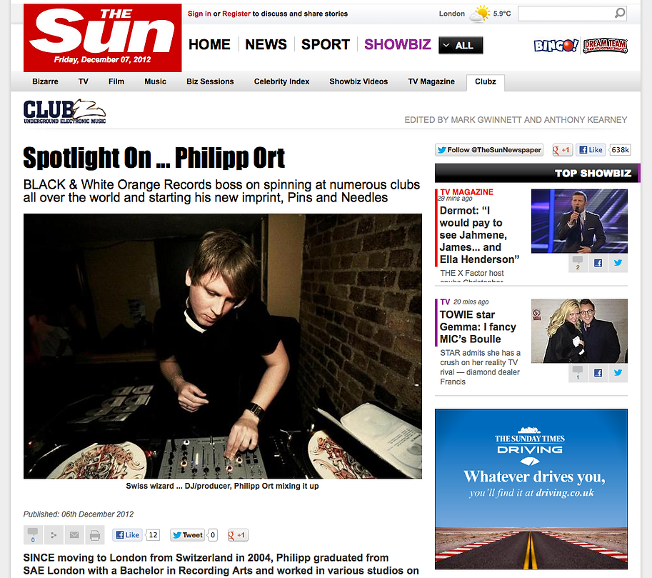 Philipp Ort interview with The Sun UK