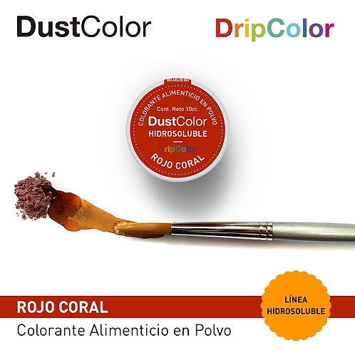 DustColor Hidrosoluble - Rojo Coral