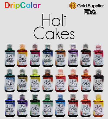 Colección Completa Holi Cakes (24 Colores)