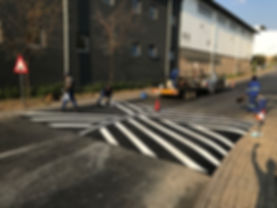 Speedhump construction and Road marking in Pretoria