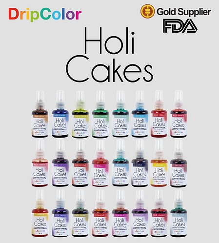 Colección Completa Holi Cakes c/ Atomizador (24 Colores)