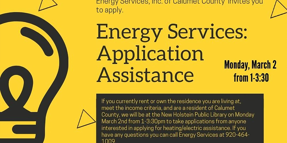 Energy Services: Application Asistance
