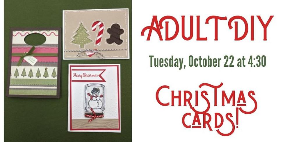 Adult DIY: Christmas Cards!