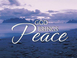 Let His Peace Overcome You!