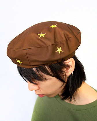 Star Beret - Brown