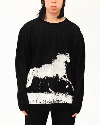 Cowboy Knit Sweater - Black