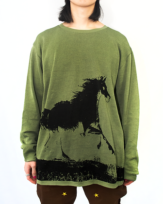 Cowboy Knit Sweater - Olive