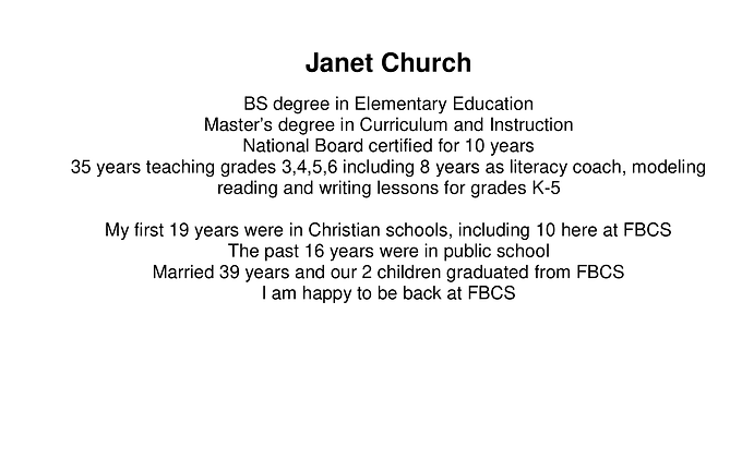 Janet Church