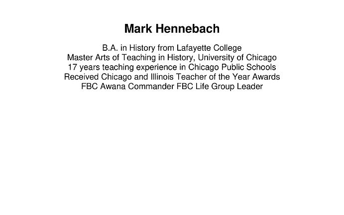 Mark Hennebach