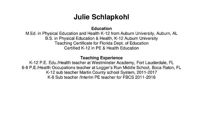 Julie Schlapkohl
