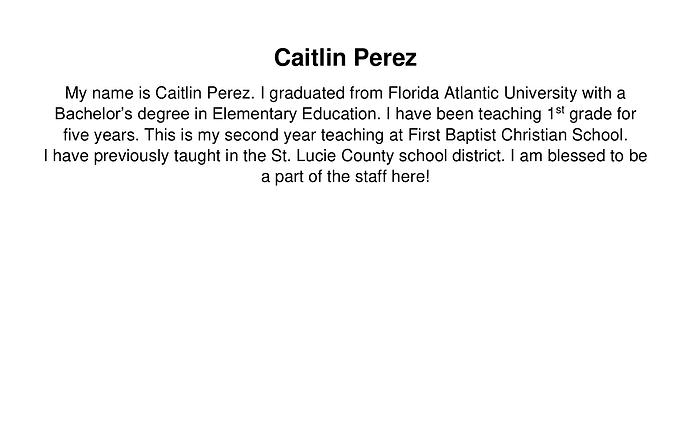 Caitlin Perez