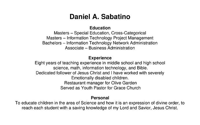 Daniel Sabatino