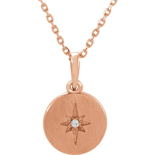 14kt Gold Diamond Starburst Necklace