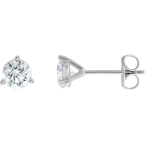 Lab Created Colorless Diamond Studs (1/2carat each)