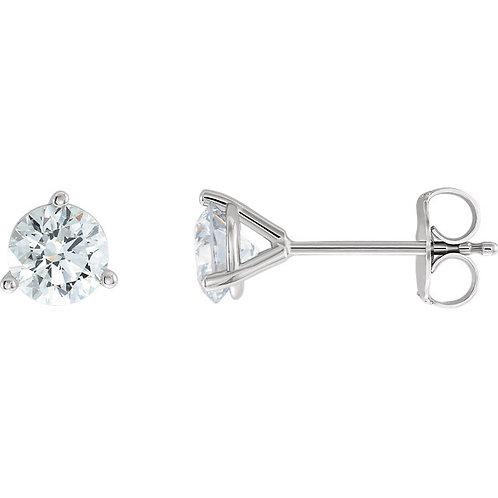 Lab Created Diamond Studs (1/2carat each)