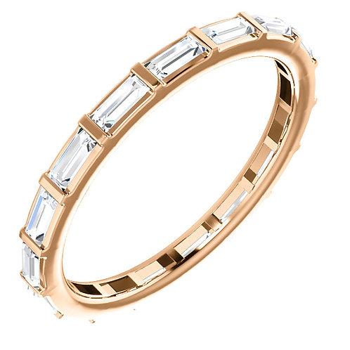 14 kt Gold 1/2 CTW Baguette Diamond Eternity Band Size 5
