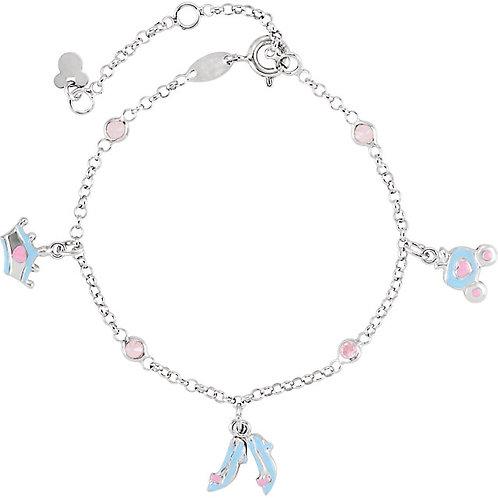 Youth Jewelry - Disney Cinderella Sterling Silver Charm Bracelet
