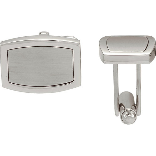Men's Items - Engravable Stainless Steel Cuff Links