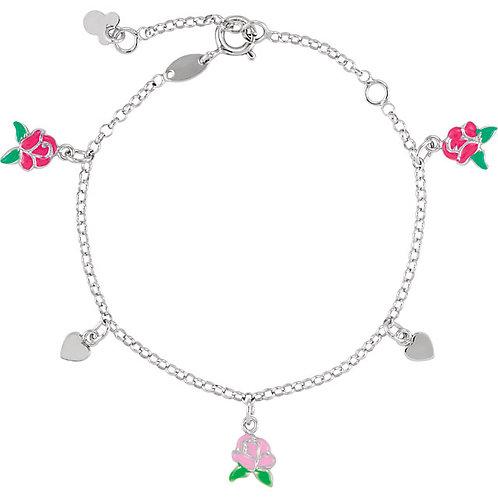 Youth Jewelry - Disney Belle Sterling Silver Charm Bracelet