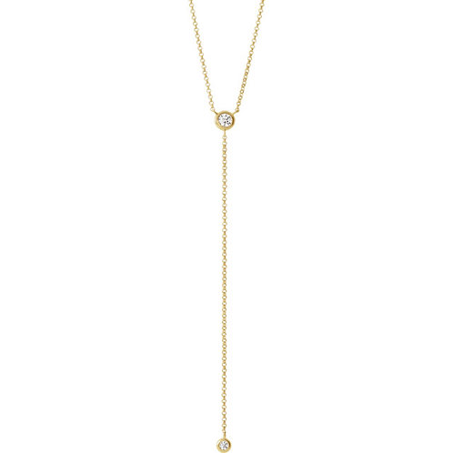 14kt Gold Diamond Lariat Chain