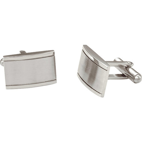 Men's Items - Engravable Stainless Steel Rectangular Cuff Links