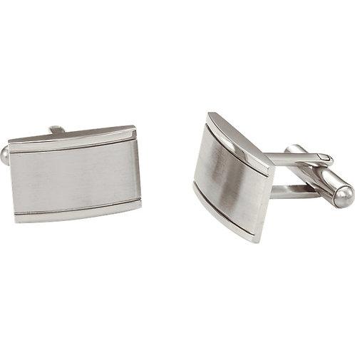Men's Items - Stainless Steel Rectangular Cuff Links