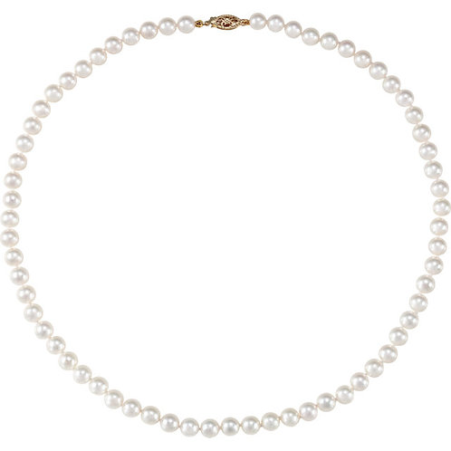 Akoya Cultured Pearl 18 inch Necklace