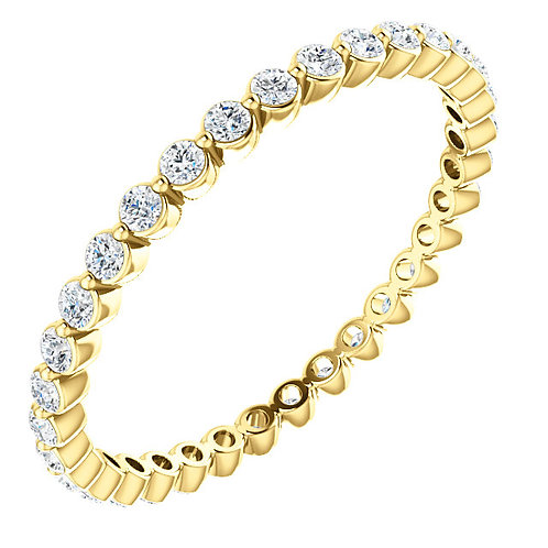 14 kt Gold 3/8 CTW Diamond Eternity Band Size 4