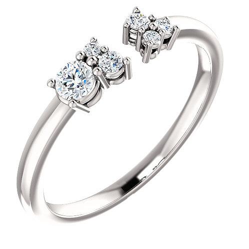14kt Gold Cluster Diamond Ring