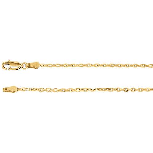 "14kt Gold Diamond Cut 2mm Chain 16"""