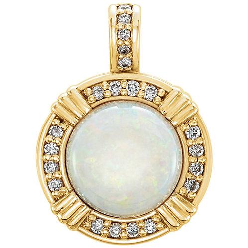 Opal Cabochon Pendant