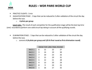 Rules - WDR PARIS WORLD CUP