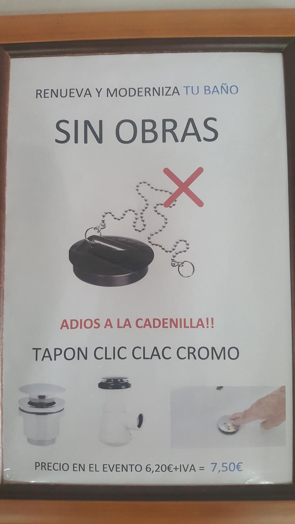 TAPON CLIC CLAC CROMO
