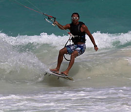 Kite boarding tulum mexico