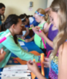 middlse school girls camp