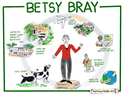 Visual bio for Betsy Bray